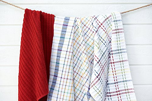 Ritz Royale Collection 100% Combed Terry Cotton, Highly Absorbent, Oversized, Kitchen Towel Set, 28'' x 18'', 2-Pack, Solid Paprika Red by Ritz (Image #7)