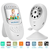 [2018 UPGRADED]Baby Monitor Wireless Camera+Talk Back Two-Way Audio+Night Vision Temp Sensor+ Built-in 8 Lullaby +2.4''LCD Screen+Baby Pet Surveillance Video Monitor Nanny Cam For Home Security System
