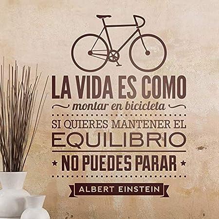 Geiqianjiumai La Vida es como Andar en Bicicleta Ciclista Etiqueta de la Pared Cita Letras decoración del hogar 31 cm x 42 cm: Amazon.es: Hogar