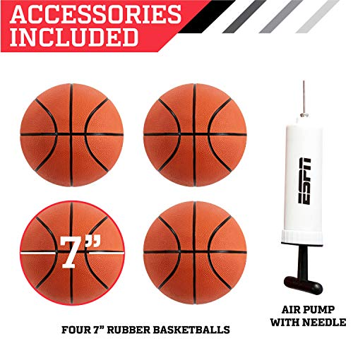 ESPN EZ Fold 2 player Basketball Game with Polycarbonate Backboard and LED Scoring by ESPN (Image #8)