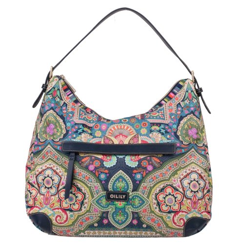 Oilily Hobo Bag Handtasche Winter Ovation in Indigo Biscuit oder Coffee Farbe:Indigo