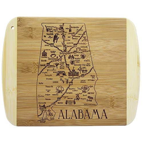 Totally Bamboo A Slice of Life Alabama Bamboo Serving and Cutting Board ()