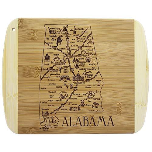 Totally Bamboo A Slice of Life Alabama Bamboo Serving and Cutting Board Alabama Crimson Tide Cheese Board