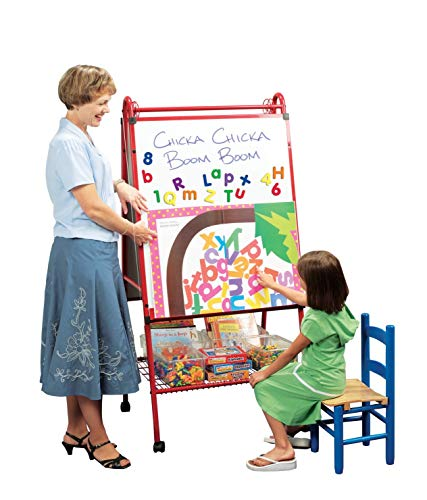 (School Specialty Mobile Multi-Purpose Easel, 62 x 30 x 26 Inches, Metal)