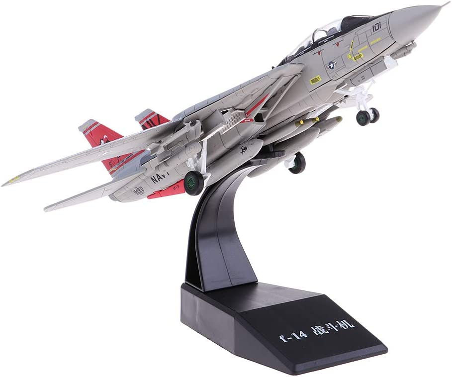 1:100 F14 Aviation Model Airplane Aircraft Fighter Diecast Plane Toy