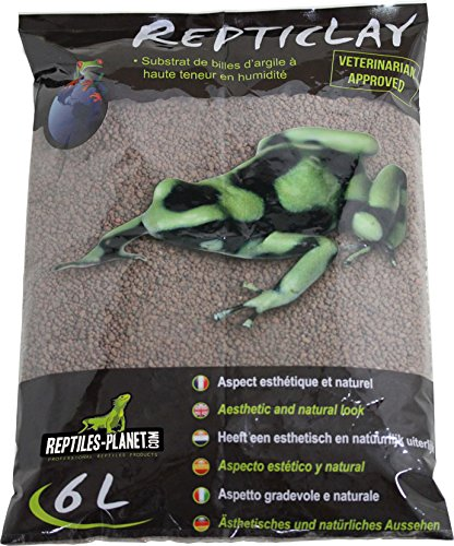 Reptiles Planet litière Sous-couche de Drenaje para terrarios Tropical repticlay 6L REPU5