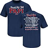 Boston Red Sox Fans. Thanks Papi. David Ortiz Tribute T Shirt (Sm-5X)