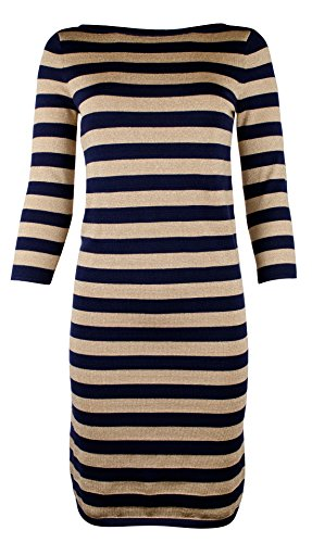 Lauren Ralph Lauren Women's Petite Striped Metallic Sweater ()