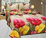 Singhsvillas Decor Floral Polycotton Double Bedsheet With 2 Pillow Covers