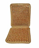 Zone Tech Wooden Beaded Car driver seat cushion - Natural Double Strung Massaging Universal Comfortable Car Seat Cover Cushion With High Ventilation