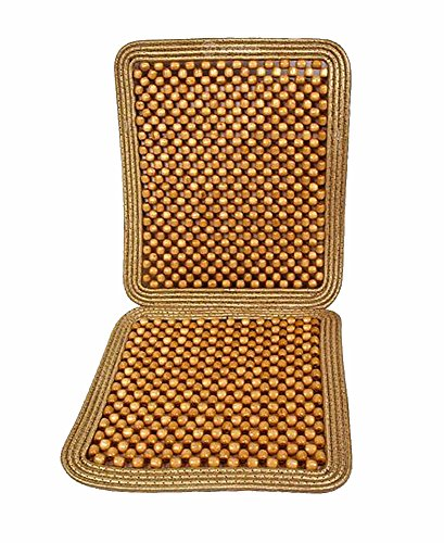 Zone Tech Natural Beaded Seat Cushion (Beaded Seat Covers For Cars compare prices)
