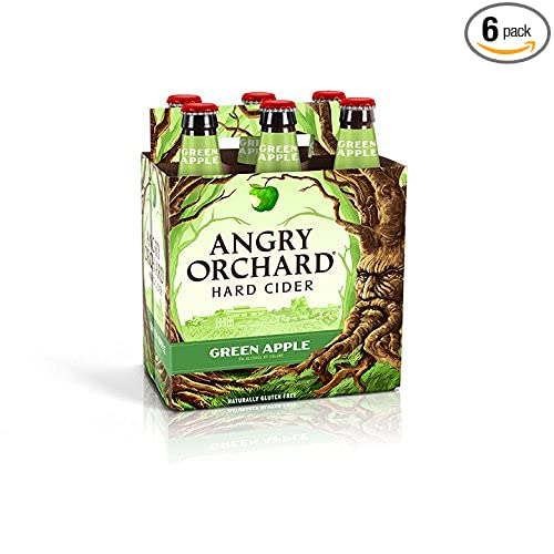 Angry Orchard Green Apple Hard Cider, 6 pk, 12 oz bottles, 5% ABV