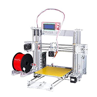 2015 Upgraded Full Acrylic Quality High Precision Reprap Prusa i3 DIY 3d Printer Kit with 2 KG Filament +SD card for Free