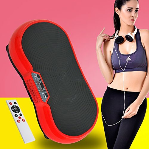 Fitness Vibration Platform Full Body Workout Machine Vibration Plate W/Remote Control and Balance Straps, Bluetooth Exercise Equipment(Red) by Nova Microdermabrasion (Image #9)