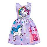 Dressy Daisy Girls My Little Pony Dress Costumes Rainbow Unicorn Costumes Fancy Dress up Size 6X Purple 126