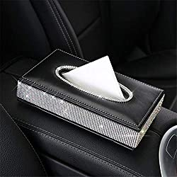 Bling Crystal PU-Leather Tissue Box Holder