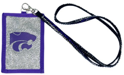 NCAA Kansas State Wildcats Beaded Lanyard with Nylon Wallet