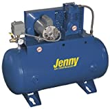 #5: Jenny Compressors K1A-30-460/3 1-HP 30-Gallon Tank 3 Phase 460-Volt, Horizontal Electric Single-Stage Stationary Compressor