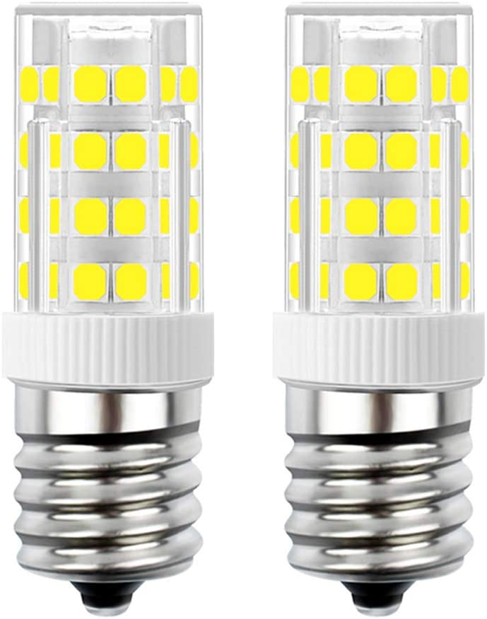 SumVibe E17 LED Bulb, Stovetop Light, Appliance Bulb Under Microwave Oven, Non-Dimmable, 4W Daylight White 6000K, 110V-130V, 2-Pack