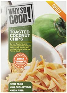 Why So Good Toasted Coconut Chips, 1.41 Ounce (Pack of 8)