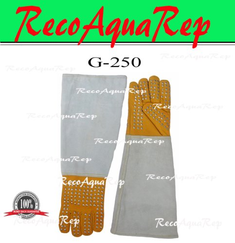 Extra Heavy Duty Reptile Handling Gloves With Steel Studs...