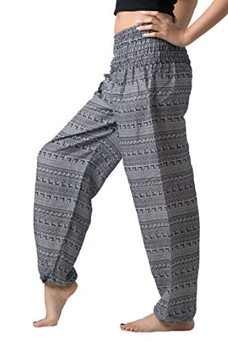 Bangkokpants Women Long Hippie Bohemian Pants Mix Stripe One Size US Size 0-12
