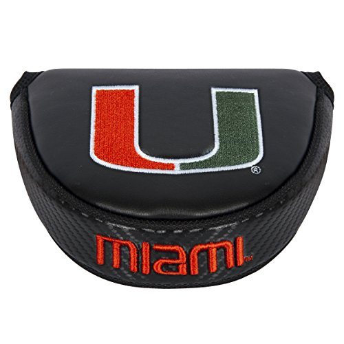 (Team Effort NCAA Miami Hurricanes Mallet Putter Coverblack Mallet Putter Cover, Black, NA)