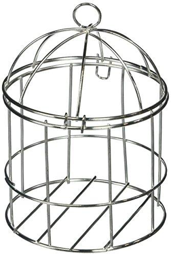 Mini Birdcage (Homeford FCFA10466SIL Mini Metal Wire Bird Cage, 4