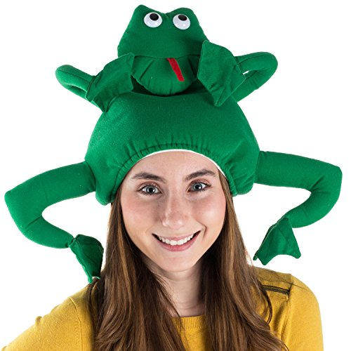 (Tigerdoe Frog Costume Hat - Animal Hats - Novelty Hats - Frog Costume - Frog Costume)