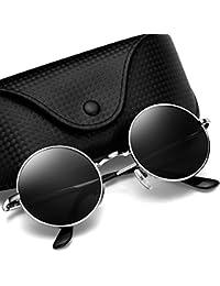 Lennon Retro Round Sunglasses, Vintage Polarized Hipple...