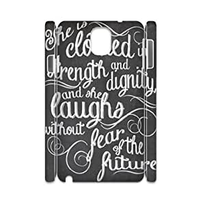 Custom New Case for Samsung Galaxy Note 3 N9000 3D, She is clothed with strength Phone Case - HL-521596
