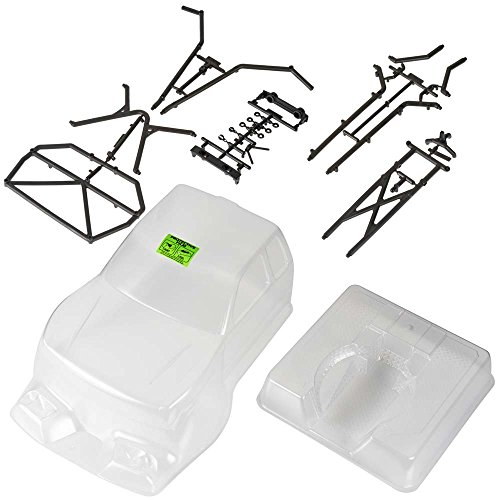 (Axial AX4025 Trail Honcho Body with Rear Cage, Clear )