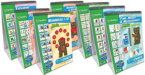 NewPath Learning 7 Piece Math Readiness Flip Chart Set, Early Childhood