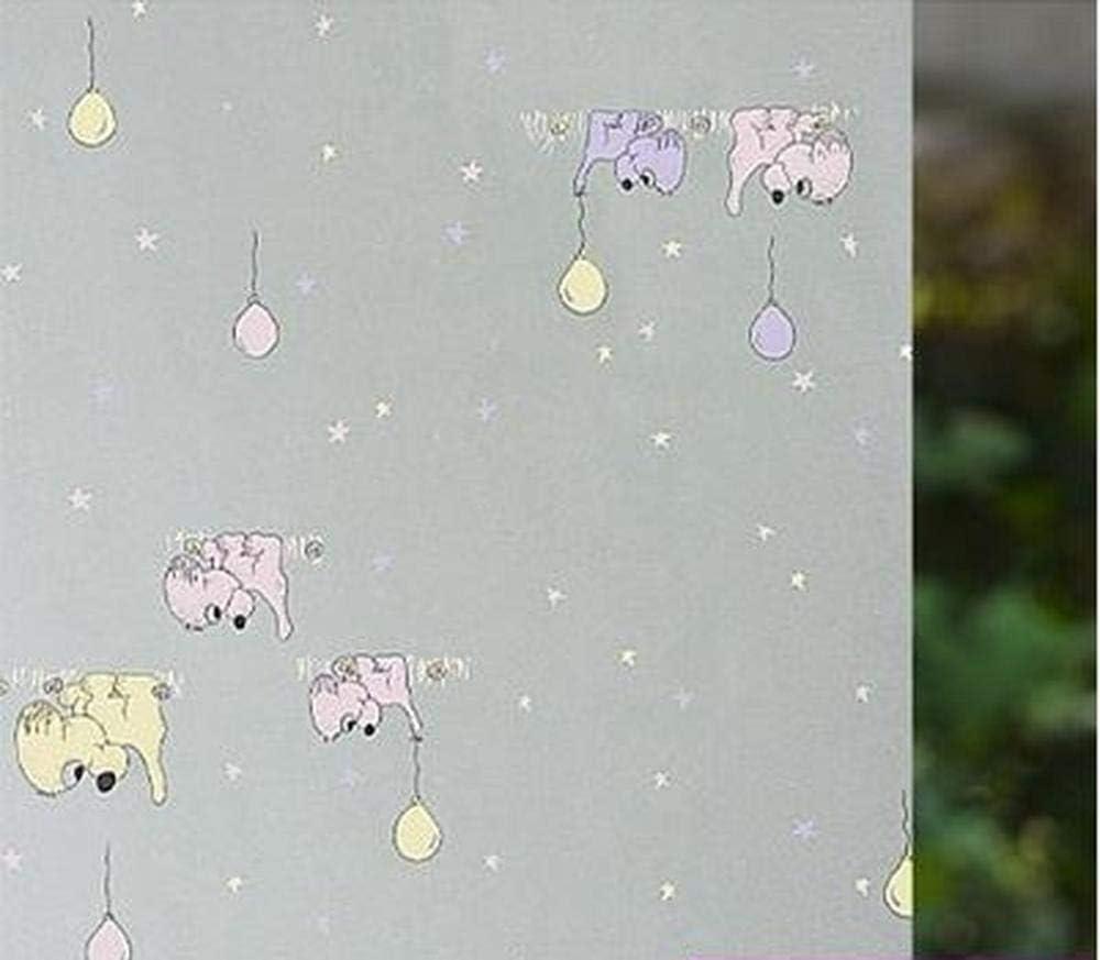 Pegatina de Vidrio Puerta corredera de baño con Pegatinas de Goma Mate Transparente Ventana Transparente baño Etiquetas de Ventana Puerta corredera de baño Protector Solar @ X90 * 200cm: Amazon.es: Hogar