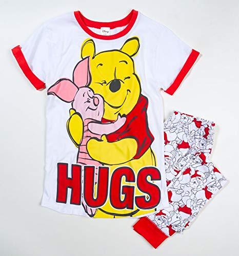 IndieGo Distribution Ltd Womens Winnie The Pooh Hugs Pyjamas White/Off White