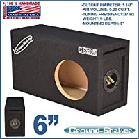 6 SINGLE PORTED SUB BOX ENCLOSURE GROUND-SHAKER