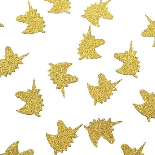 NICROLANDEE Glitter Gold Unicorn Paper Confetti for Birthday
