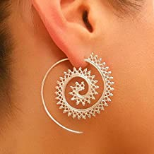 Clearance Deal! Hot Sale! Earring, Fitfulvan 2018 Fashion Vintage Earring Women Party Earrings Jewelry Accessories Mother's Day Gifts Earrings Jewelry (Silver)