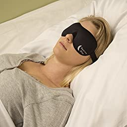 Bedtime Bliss BTB01 Contoured & Comfortable Black Sleep Mask with Moldex Ear Plugs