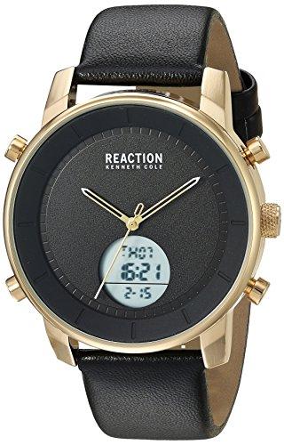 Kenneth Cole REACTION Men's Quartz Metal Casual Watch, Color:Black (Model: RK50083001)