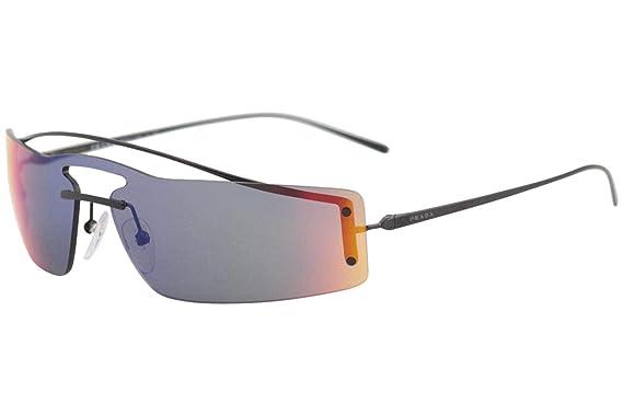e42cdca03ebf Prada Women s PR 61VS Runway Rainbow 90 s Skinny Rectangle Sunglasses