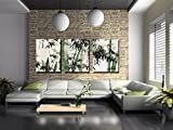 This simple yet modern wall art brings sophisticated look into your room with is contemporary pattern. The painting features 3 pieces bamboo theme. Add style to your room with this elegant painting on canvas.