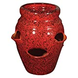 Cheap Craftware Round Ceramic Strawberry Jar with 6 Pockets