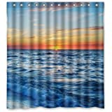 PUDA 66 quot;(Width) x 72 quot;(Height) Sunrise on the Sea Theme Design 100% Polyester Bathroom Show