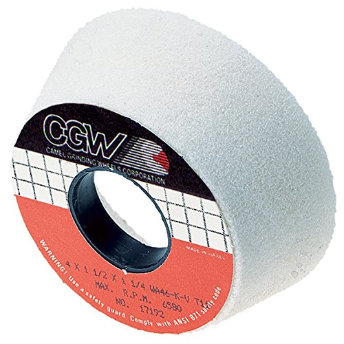 CGW-CAMEL 34904 Aluminum Oxide Tool Room Surface Grinding Wheel - Size: 4''/3'' x 1-1/2'' - Pack of 2