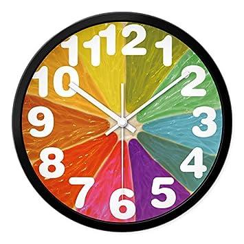 babyqueen 14 pouces peinture aquarelle créatifs horloge murale