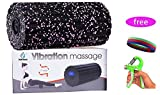 Balnna Foam Roller Vibrate 4-Speed – High Intensity Vibration for Recovery, Mobility, Pliability Training & Deep Tissue Trigger Point Sports Massage Therapy – Firm Density Electric Back Massager-Pur