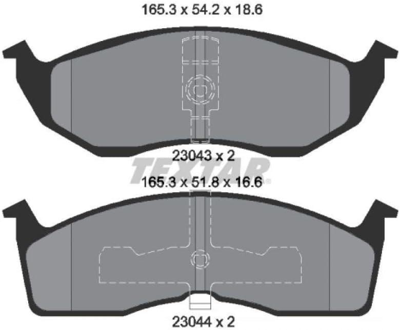 Scheibenbremse Textar 2304301 Bremsbelagsatz