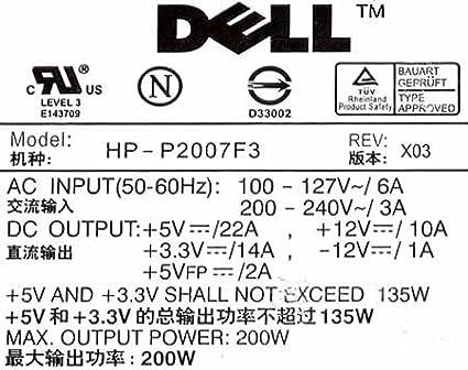 K0564 . 200 Watt ATX Power Supply for Optiplex GX150//Dimension 2400 Dell