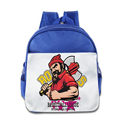 (XJBD Custom Cool Basketball League Boys And Girls Schoolbag For 1-6 Years Old RoyalBlue)